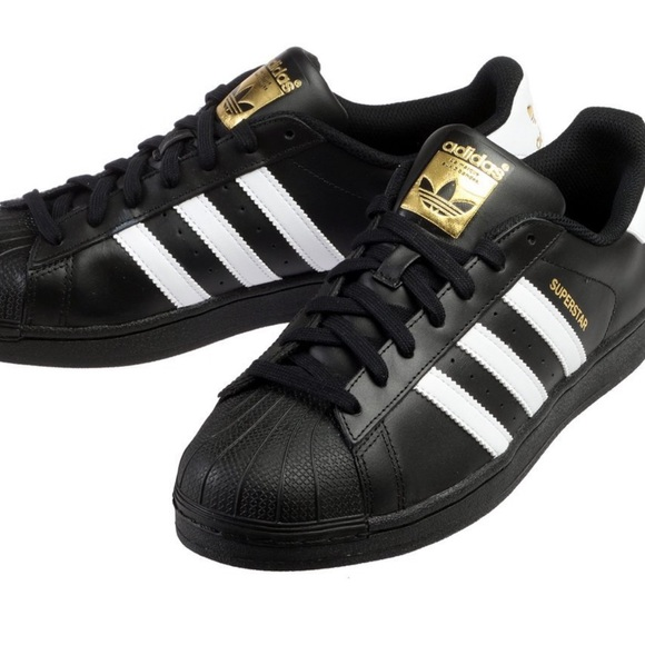 adidas superstar black with design